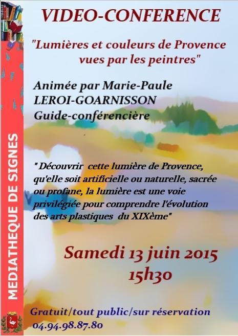 Affiche lumieres et couleurs de provence