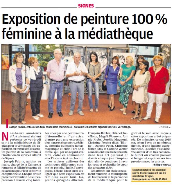 Provence exposition peintures